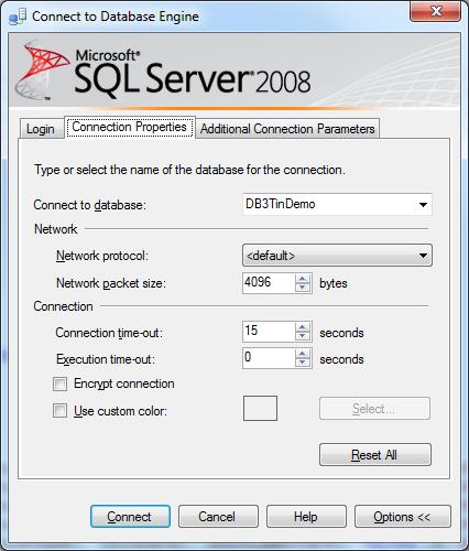 SQLAzureSelectDatabase