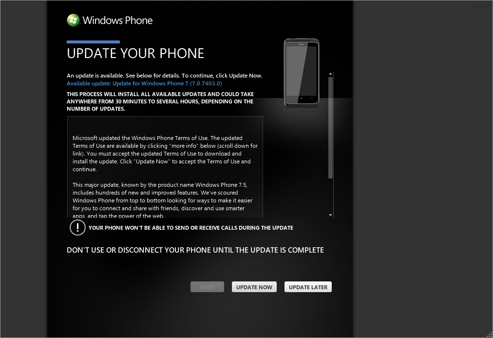 WP7UpdateAvailable7403Install