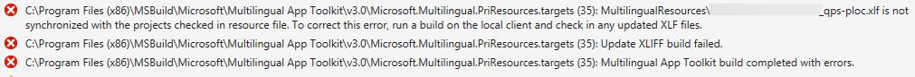 Multilingual App Toolkit build errors