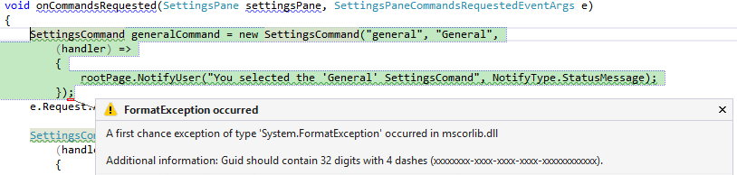 FormatException