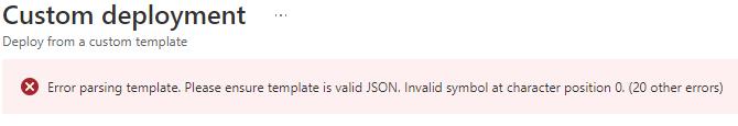 Bicep deployment failing